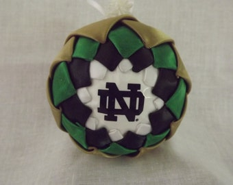 Quilted Sugar Plum Ornament Notre Dame . . .  FREE SHIPPING!
