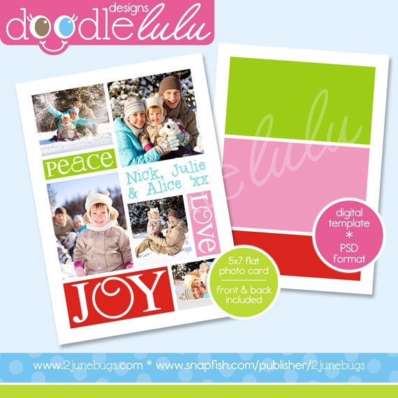 il_570xn - Christmas Card Templates For Photographers