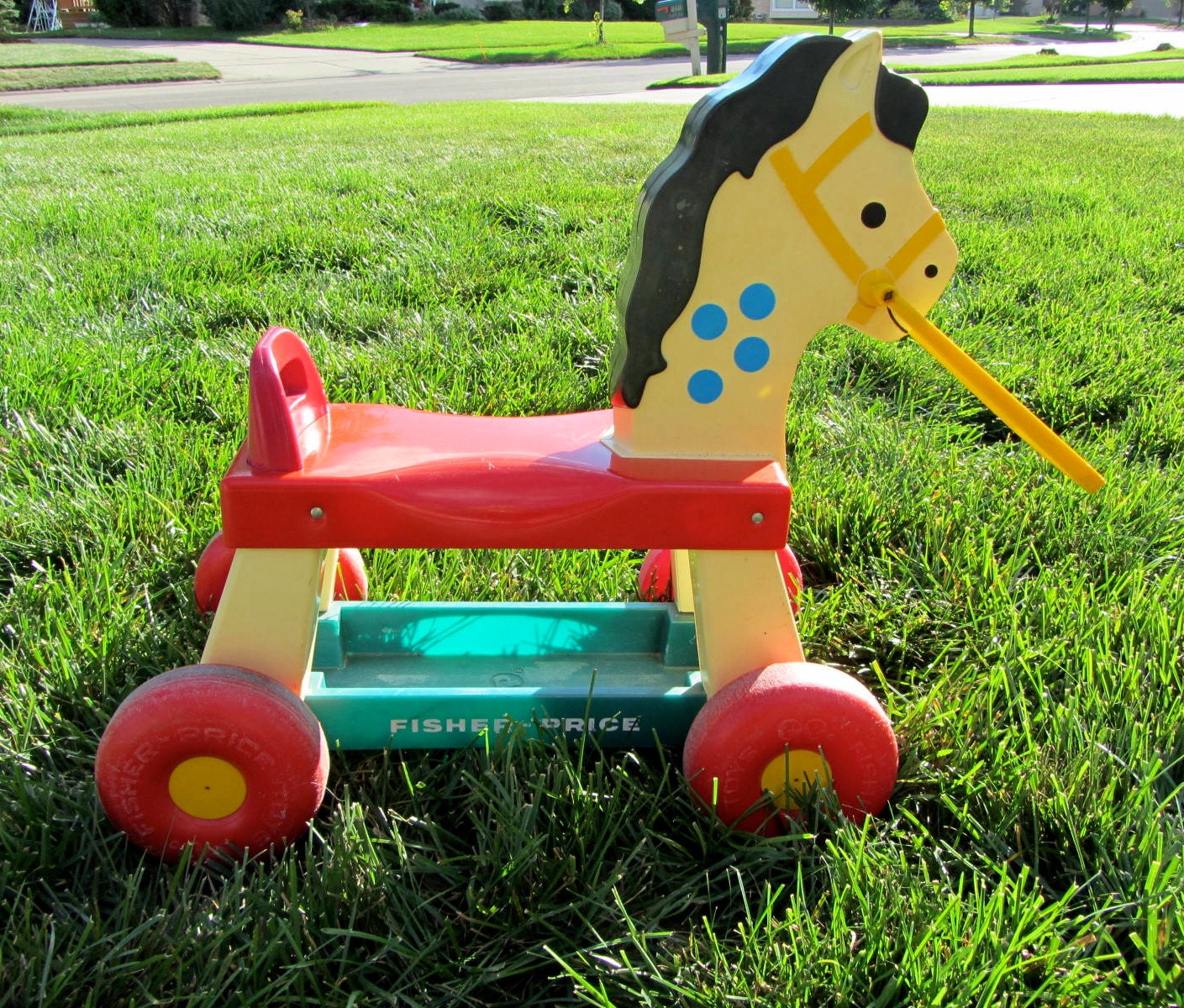Retro FISHER PRICE Ride-On Horse Pony 1976 Plastic Wheeled