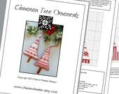 PDF Cross Stitch Pattern for Cinnamon Tree Ornaments