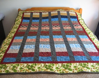 Flannel Fireside Quilt Lap or Twin Size