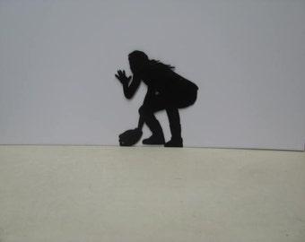 Girl Playing Softball Sports Metal Wall Art Silhouette