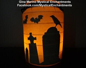 Halloween Lantern Haunted Cemetery