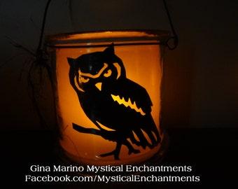 Halloween Lantern Luminary OWL