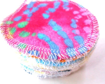 Reusable Makeup Remover Pads or Scrubbies Set of 20 Flannel Front and Back