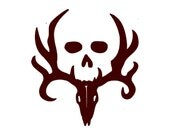 Deer Hunting Decal with Skull - Car Decal - Vinyl Car Decals, Window Decal, Signage, Hunting Decal, Hunting Decor