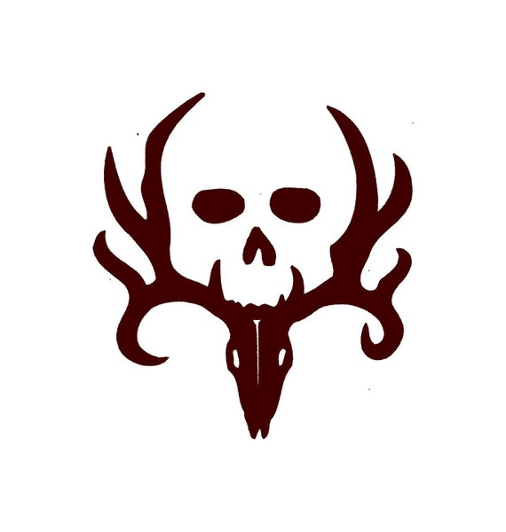Deer Hunting Decal With Skull Car Decal Vinyl Car Decals - Window stickers for trucks hunting