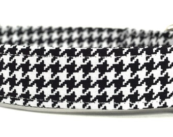 The Hounds-Tooth - Black and White Dog Collar