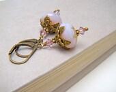 Pale Purple Floral Earrings, Lilac Flower Earrings, Vintage Style, Floral Earrings, - Magic Lilac Flower Earrings