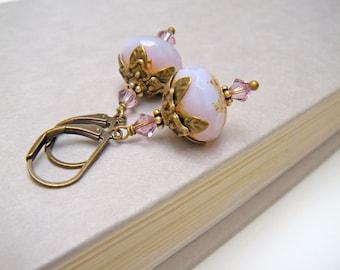 Lilac Flower Earrings, Purple Flower Earrings, Floral Earrings, Vintage Style Earrings, Gift for Gardener - Magic Lilac Flower Earrings