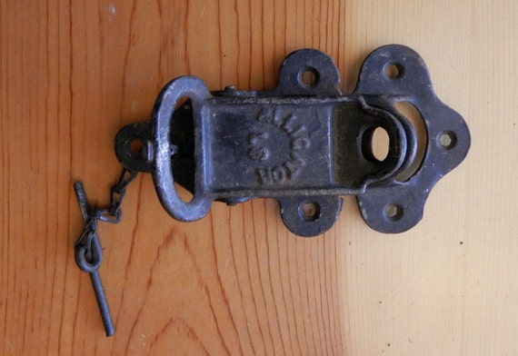 Antique Alligator Latch For Barn Door Both Parts