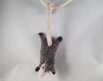 Needle Felted Possum, Possum Decor, Woodland Animal Art, Possum Gift, Needle Felted Animal, Woodland Animal Gift, Felted Animal, Felt Animal