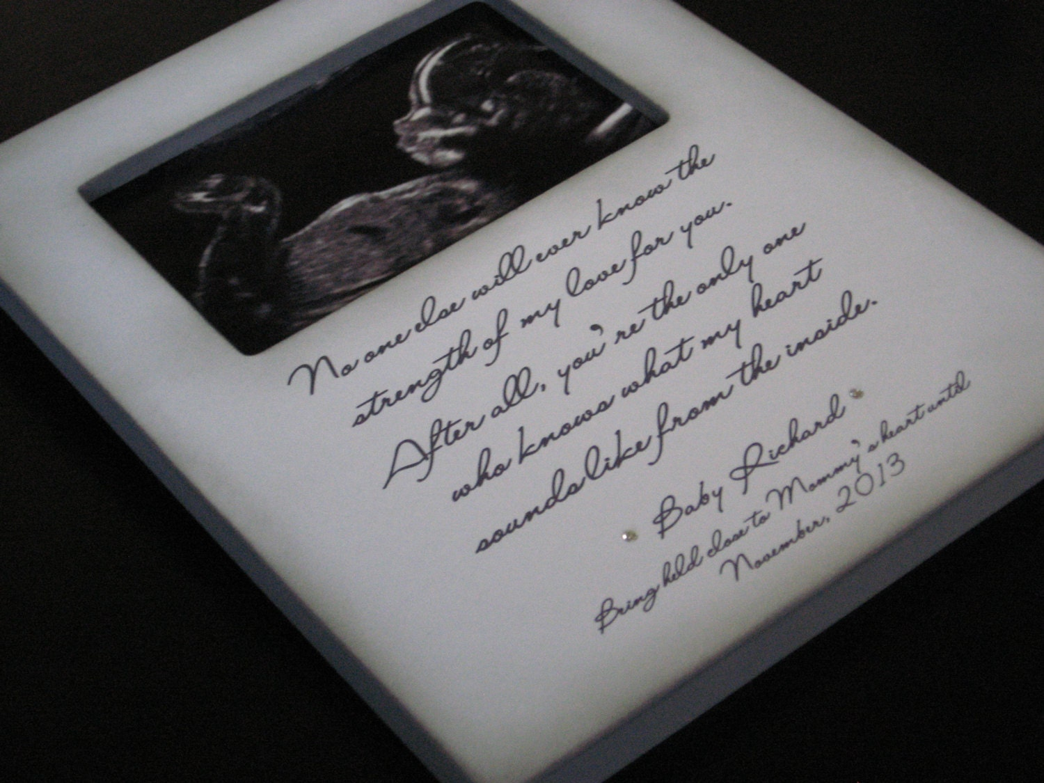 Personalized New Baby Ultrasound Picture Frame Gift For