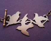 Three Birds necklace -copper