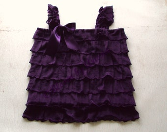 Purple ruffle top infant to youth sizes available