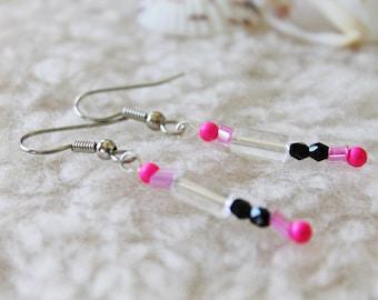 Surgical Steel Earrings or Niobium Earrings - Hi Contrast - Hypoallergenic Earrings for Sensitive Ears