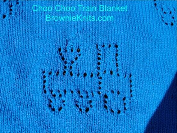 Knitting Pattern Train Blanket : Choo Choo Train Blanket Knitting Pattern from BrownieKnits ...