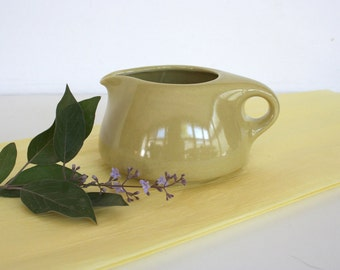 Mid century creamer by Russel Wright. Iroquois, chartreuse, mod, modern, small, pitcher.