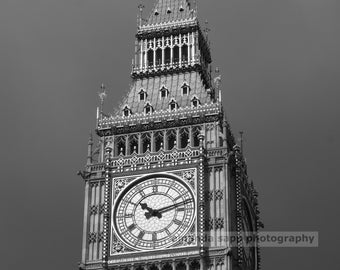 Big Ben London black and white photograph