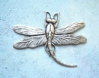 Antiqued  silver plated large dragonfly, lot of (1) - AR203