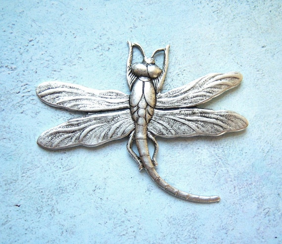 Antiqued  silver plated large dragonfly, lot of (1) - AR175