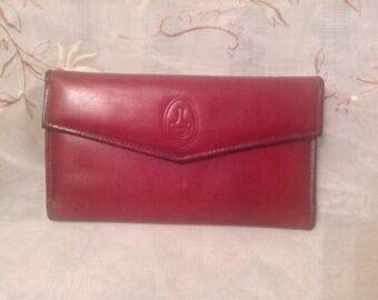 Vintage Capri Glove Cowhide Wallet Burgandy Color Leather Retro Preppy Chic Coin Purse