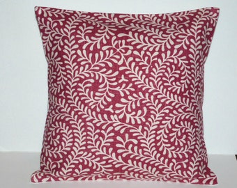 Throw Pillow Decorative Pillow Accent Pillow Cushion Covers Red Ivory 16 x 16