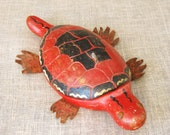 Ice Fishing Lure , Lures , Turtle , Folk Art Lure , Antique , Folk Art Carving , Handmade , Wood , Lure , Fishing , Sport , Winter