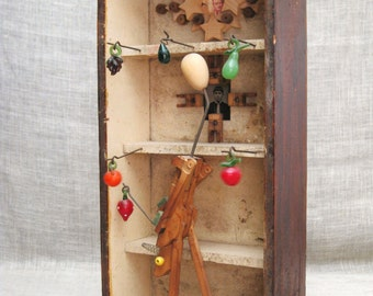 Folk Art Assemblage , Handmade , Art , Wil Shepherd  , Found Object Art  , Sculpture , Folk Art , Wood Sculpture , Wil Shepherd Studio