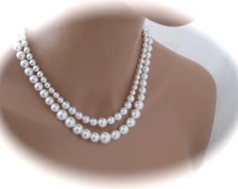 Bridal Necklace and Earring Set Wedding Jewelry Set Swarovski pearls
