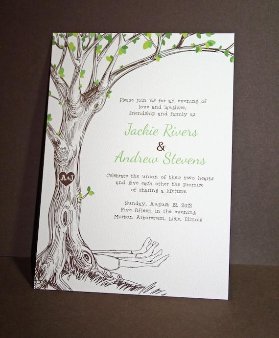 Wedding Invitation Tree: The Giving Tree Wedding Invitations Sample By