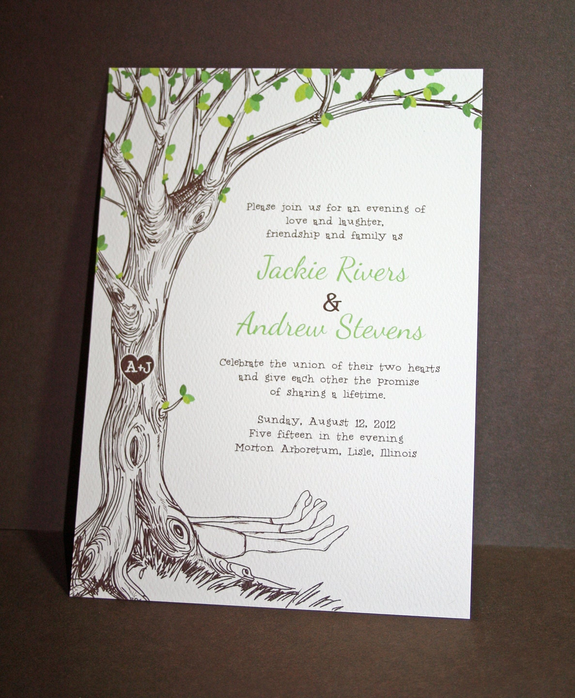 Tree Wedding Invitations: The Giving Tree Wedding Invitations Sample By