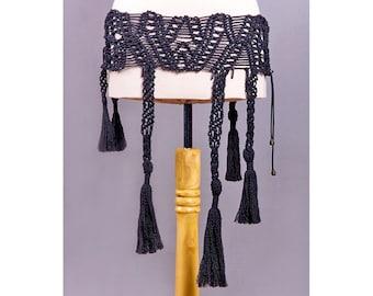 MACRAME Wide BELT Hand-knitted