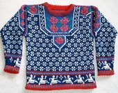 Knitting Pattern: Norway Roses Size Five Years