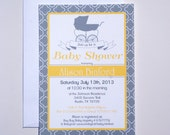 Vintage French Baby Shower Invitations : SAMPLE