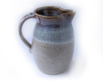 Green and Speckled Brown Pitcher