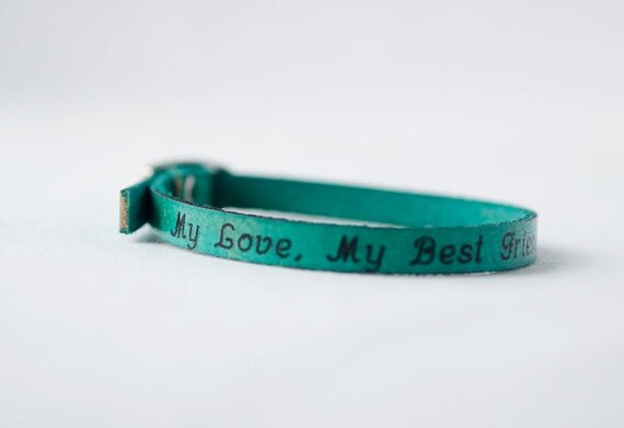 My Love, My Best Friend Skinny Adjustable Leather Bracelet