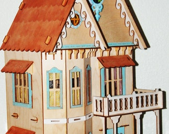 REDUCED  Dollhouse, Laser-cut Birch, Gothic, Nancy Forbes Furniture, Accessories, Half Scale, Free Shipping
