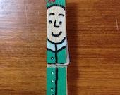 Elf clothes pin ornaments set of 5