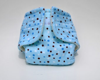 Baby Doll Diaper Blue Dot - Size Large
