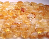 Large Smooth Citrine Nuggets 8 Inch Strand