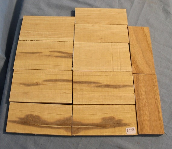11 pieces craft wood knife scales ash oak thin lumber et