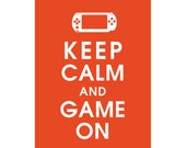 Keep Calm and GAME ON (B) - Art Print (Featured in Flame) Keep Calm Art Prints and Posters