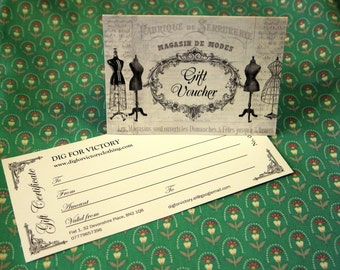 Dig For Victory ~ Gift Voucher  ~ A lovely present!