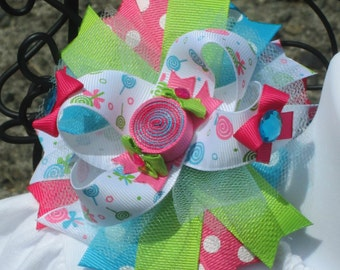Sweet Shoppe hairbow candy shop bow candy shoppe bow sweet shop bow candy birthday bow sweet shop birthday bow candy shop birthday hairbow