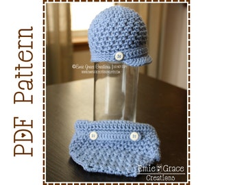 Crochet Textured Hat and Diaper Cover Patterns, HAMILTON - pdf 405, 715