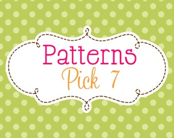 7 Crochet or Knitting Patterns Savings Pack, PDF Files, Permission to Sell Finished Items, Bundle Deal