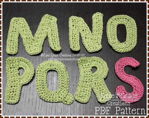 MONOGRAM Crochet Pattern - FULL ALPHABET