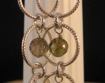 Cascading Gemstone Earrings,hoop earrings, gemstone earrings, silver earrings, cascading earrings, gemstone jewelry, dangle earrings, drop