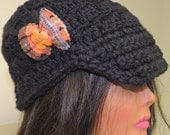 Clearance 50% off - Beanie Flapper Hat Beany Tam Beret Dread Hippie Snood in Designer Wool Acrylic yarn